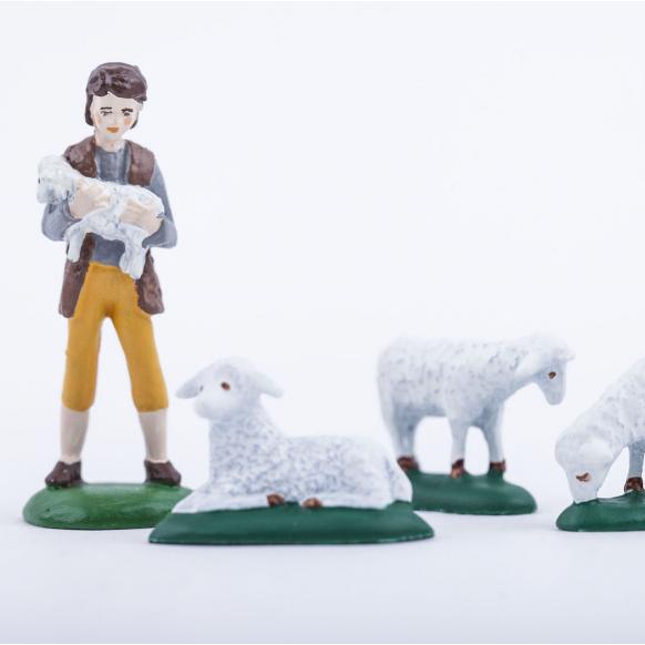 Pastýř s ovečkami