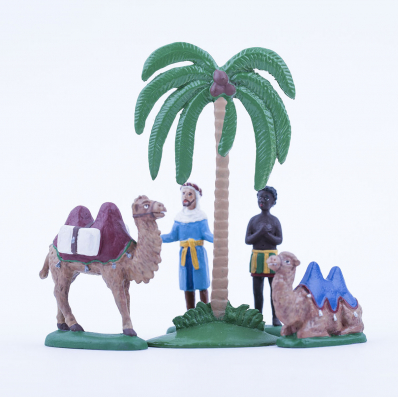 Velbloudí karavana (s kulisou pouště)